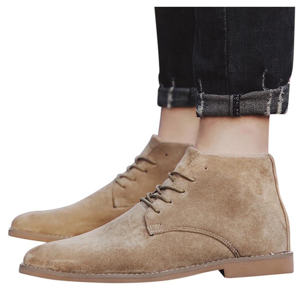 Men's Boots British Boots Korean Leisure Boots High Suede Pointed Shoes men shoes zapatos de hombre обувь мужская зимняя