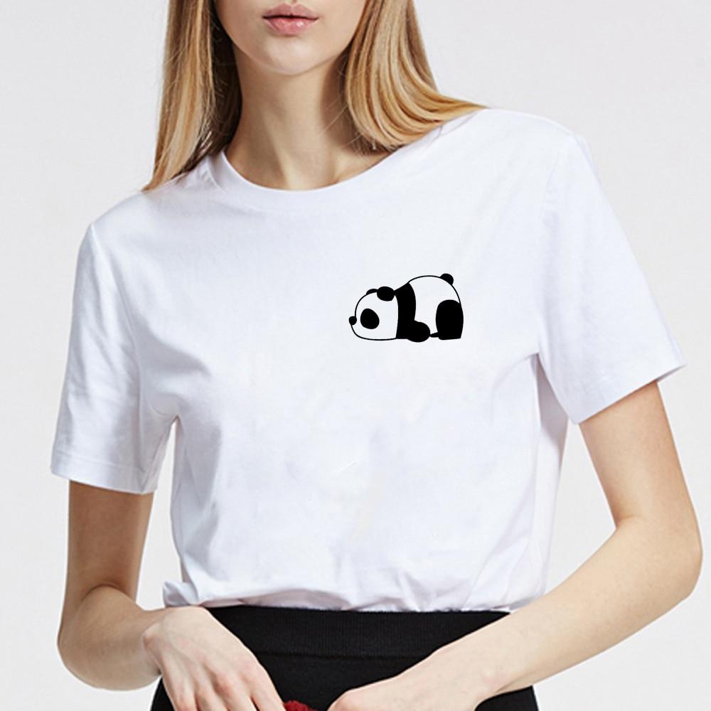 Panda chemise poche t-shirt Panda ours Animal amant coton t-shirt graphique t-shirt Hipster Tumblr confortable hauts grande taille