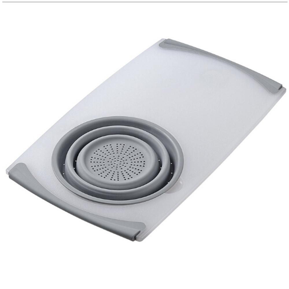 <font><b>Kitchen</b></font> Chopping Board Multi-function Sink Drain Basket Meat Vegetable Fruit Antibacterial Cutting Board <font><b>Kitchen</b></font> <font><b>Tools</b></font> image