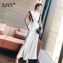 High Fashion Women Two Piece Summer Sets 2020 Designers Office Lady Outfits Eleg