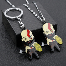 Game God of War Keychain Toys Kratos Head Key chain Metal keyring pandent Game Fans Toy men gift jewelry accessories danny tobey god game
