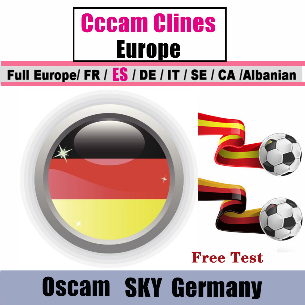 CCCAM  Cline For 1 Year Europe 5 Clines Oscam Stable Cccam Server HD Ccam Spain Portugal Germany Poland Receptor Satellite