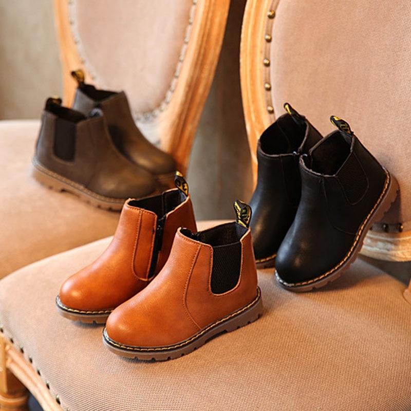 Dziecięce śniegowce 2020 jesienne zimowe bawełniane buty chłopcy dziewczęta wodoodporne antypoślizgowe botki dziecięce skórzane buty moda