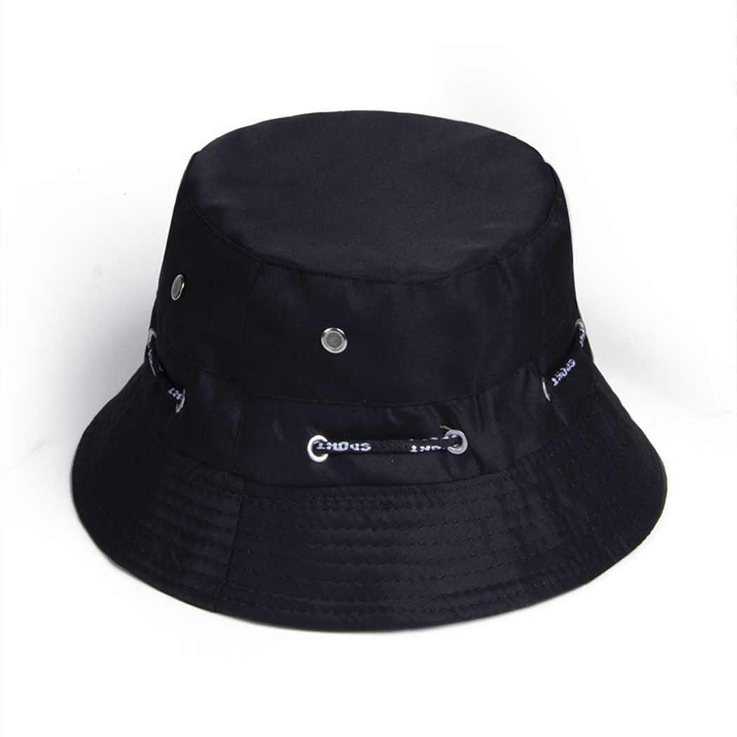 夏漁師バケツの帽子無地調整可能なバケツ帽子 2019 屋外通気性サンスクリーン太陽シェーディング折りたたみフラットキャップ