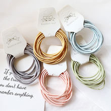 10pcs/lot 5CM Scrunchie Hair Elastics Hair Bands Hair Accessories Women Rubber Bands Scrunchy Gum for Hair Accessories for Women(China)