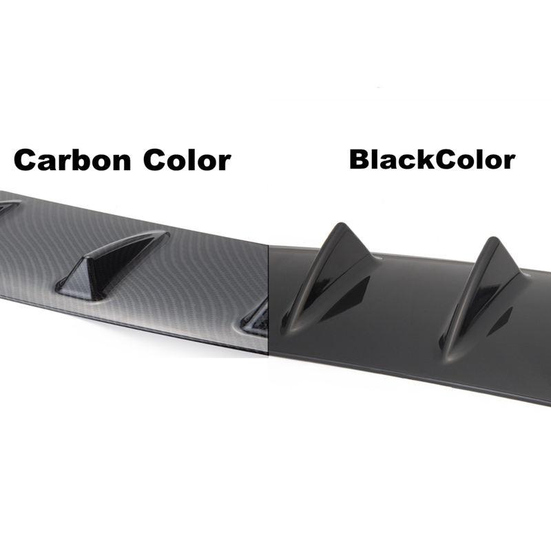 Fit RAM Bolt On Carbon Fiber Texture Matte Finish ABS Rear Bumper Diffuser