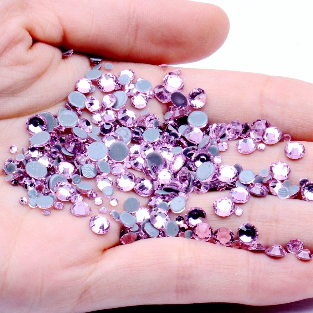 100 Clair scintillantes Larmes 10x14 mm en Acrylique Strass Gems Flatback sew on