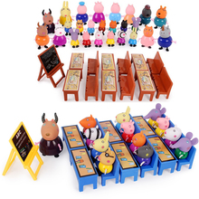 Peppa Pig Toy play House Doll Class George Family Mom Grandma PVC Action Figures peppa pig Anime Kids Toys for Children Gifts peppa pig toys doll train car house scene building blocks action figures toys early learning educational toys birthday gift