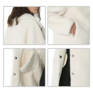 Image 5 - חורף נשים צמר מעיל קשמיר נשי מעיל ארוך תערובות צמר אלגנטי סתיו מעיל לנשים עבה חם פרווה בגדי ילדה 2019