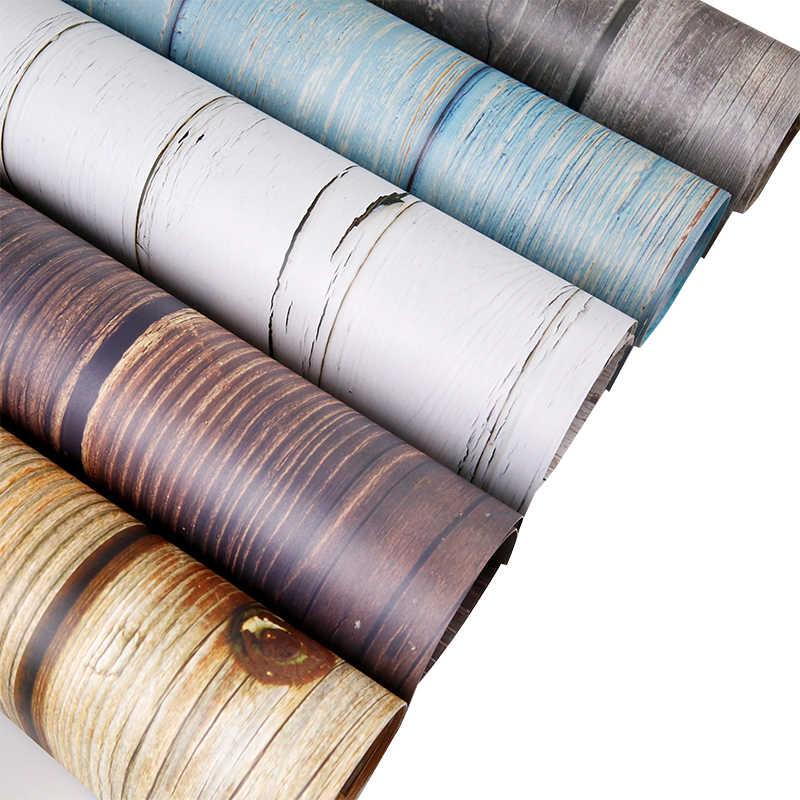 54x82cm Double face bois grain fond papier ins photo accessoires papier peint nourriture photographie accessoires de tir décoratif