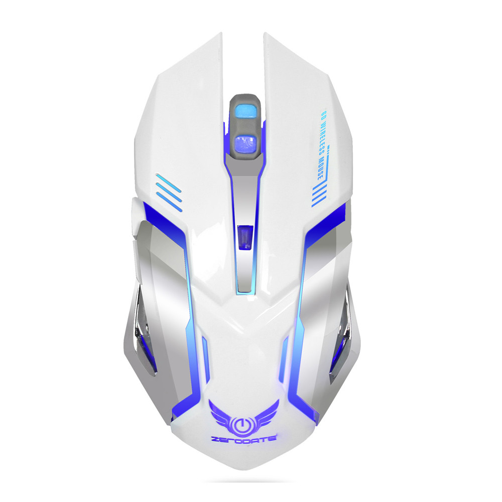 OMESHIN Wireless Gaming Mouse 2.4GHz 2400 DPI Gaming Mouse Ergonomic Design Six Buttons And Seven Color Breathing Lights