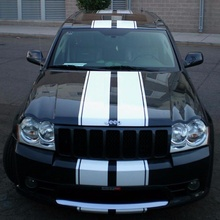 Для 1 Набор наклеек набор полос для Jeep Grand Cherokee SRT8 световое зеркало капот бампера