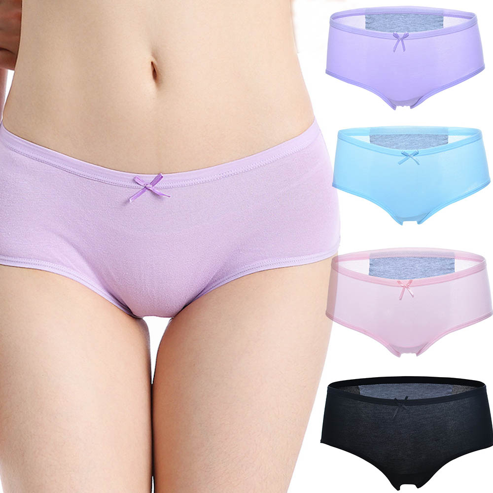 Women Physiological Pants Leack Proof Menstrual Panties Cotton Underwear Menstruation Period Beathable Female Briefs