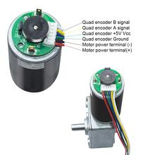40GZ495H 12V 8-470 Rpm with Electric Gearbox Reducer High Torque Electric Turbo Gear Motor with Encoder DC Gear Encoder Motor