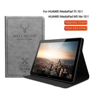 Чехол для планшета HUAWEI MediaPad M5 lite /MediaPad T5 10,1 дюймов Умный Магнитный чехол-подставка для Huawei MediaPad T5 защитный чехол