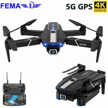 FEMA E525 E525S GPS Drone con 4K / 1080P 5G Wifi FPV HD ancho ángulo de cámara plegable Mini Drone RC Quadcopter Me sigue del E520S