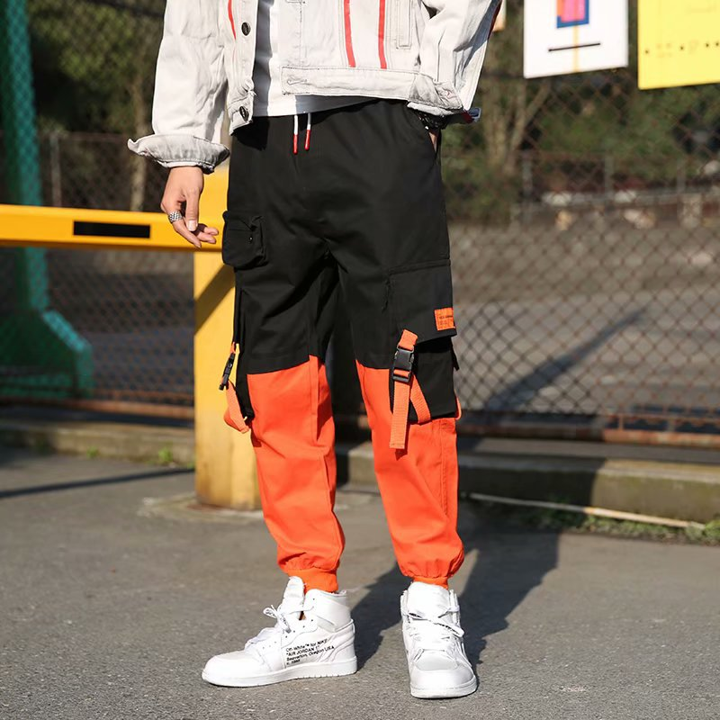 2019 Spring New Style Casual Fashion Capri Pants Men's Popular Brand Bags Bib Overall Hong Kong Style Cool Elastic Harem Pants