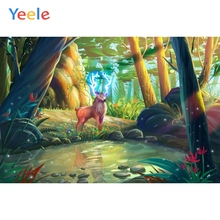 Yeele Forest Backdrop Dreamy Wonderland Animal Deer Newborn Baby Birthday Photography Background For Photo Studio Photocall