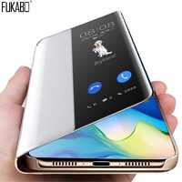 Luxury Smart Clear View Flip Shockproof Case For Huawei P20 P30 Pro Leather Protective Case On The For Huawei Mate 20 Pro Cover