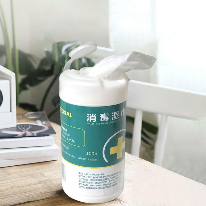 100pcs disposable disinfection car home cleaning wet wipes for hand portable sanitary paper wet wipes