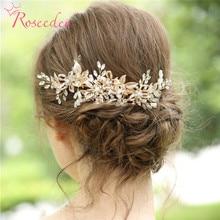 Bridal Hair Comb Accessories Wedding Hair Combs Jewelry Handmade Flower Women Headband Pearl Rhinestone Bride Headpiece RE3228 цена в Москве и Питере