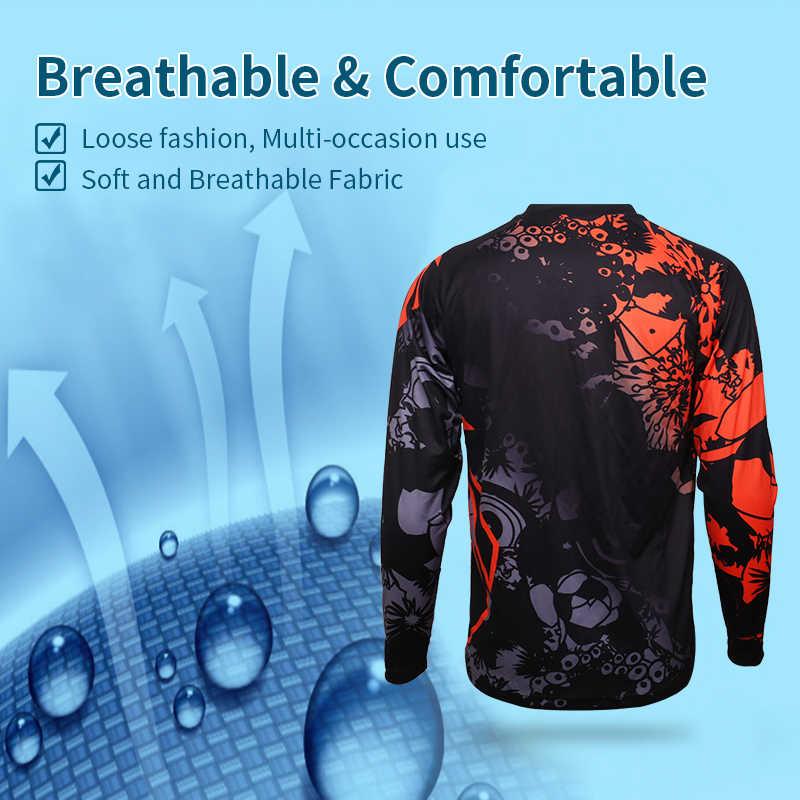 X-Tiger Quick-Dry Downhill Jersey koszula Motocross wyścigi odzież sportowa 100% poliester jazda na rowerze Jersey z długim rękawem MTB rower DH koszula