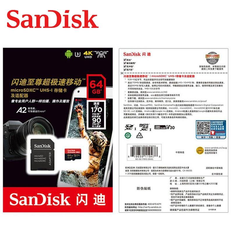 SanDisk Extreme Pro Ultra карта памяти 128 Гб 64 ГБ 32 ГБ Micro SD 256 Гб 400 Гб 32 64 128 ГБ флеш-карта SD/TF MicroSD U1/U3 4K-4