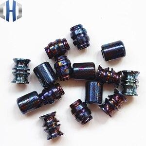 Image 2 - Titanium Mascus EDC Umbrella Rope Pendant Titanium Saber DIY Jewelry Bracelet Zipper Pendant