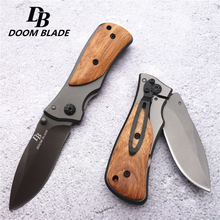 57HRC Medium Size Scout Folding Knife Pocket Compact Tactical Outdoor Camping Hunting Survival Rescue Knife with Box
