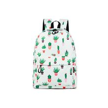 Cute Cactus Print Women Backpack School Shoulder Bag Satchel Handbag Rucksack for Teenagers Girls недорого