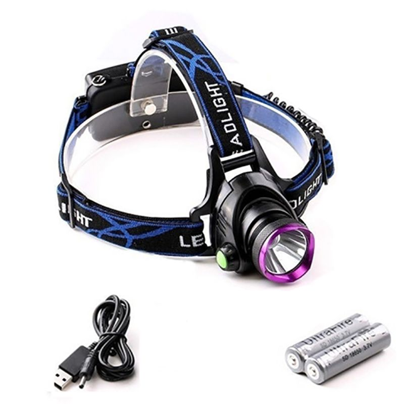 1000 Lumens Head Torch LED Rechargeable Glare Headlight Torch Miner's Lamp Searchlight USB 18650 Battery Long Spotlight