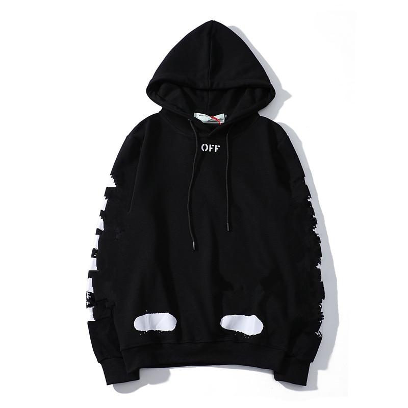New Brand Men Hoodie 2020 Autumn Winter Male Hip Hop Streetwear Men Pullover Arrow Sweatshirts Hoodies Mens Solid Color Hooded