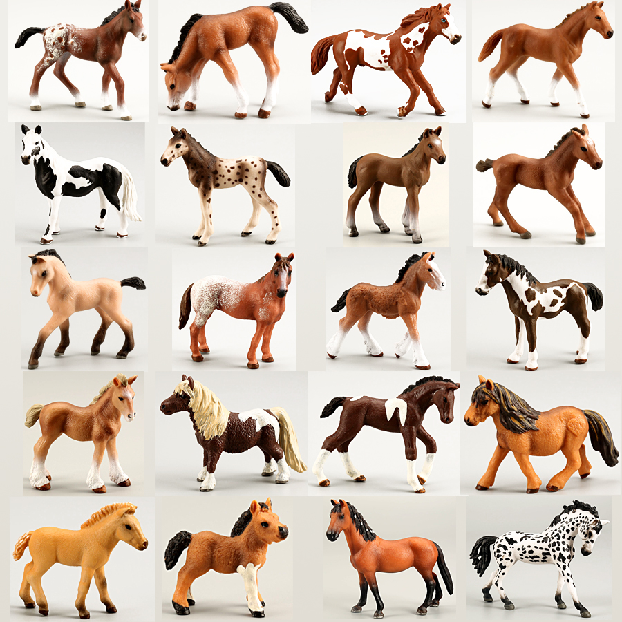 Classics Collectible Horse Figures Toys Simulation Assorted Colors Horse  Model Figurine PVC Toy Educational Playset For Kids