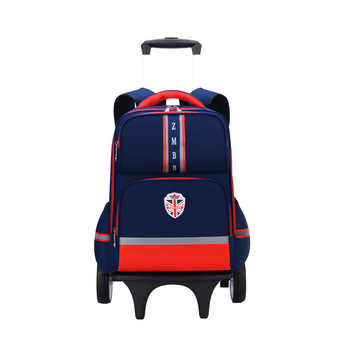Trolley school Backpack Removable Children's Children School Bags Six Wheels Primary Schoolbags Boys Girls kids Wheeled Backpack kids boys girls trolley schoolbag luggage book bags backpack latest removable children school bags with 2 wheels stairs