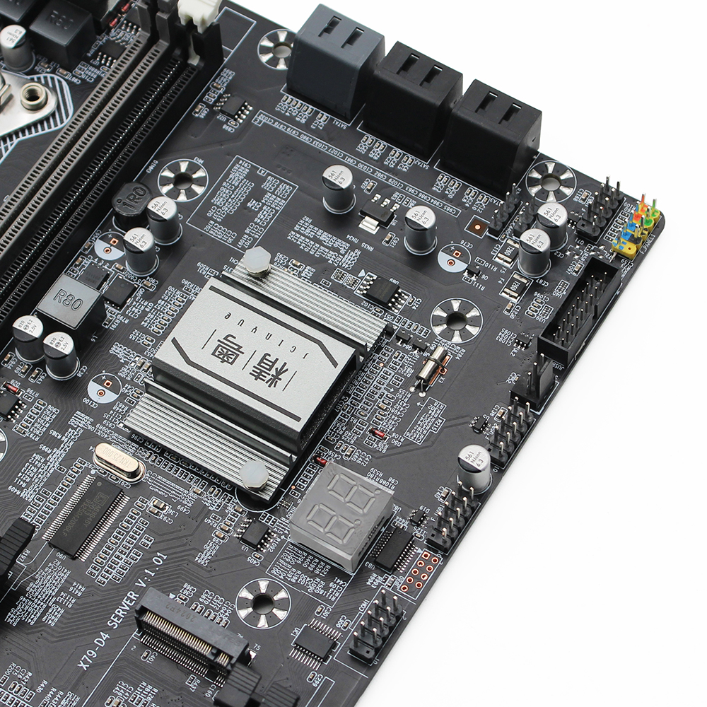 JGINYUE X79 dual CPU motherboard LGA 2011 For i7 Xeon E5 V1&V2 processor DDR3 256G ECC/NON-ECC memory dual Giga LAN X79-D4 2