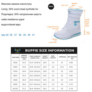 Image 5 - Winter Boots Women Warm Snow Boot Shoe 30% Natural Wool Footwear White Color BUFFIE 2020 Big Size Zipper Mid calf Free Shipping