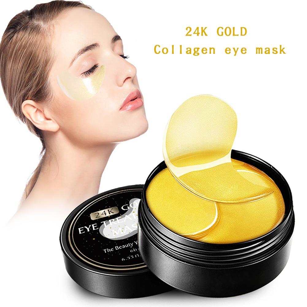 24K Gold Eye Masks Remove Eye Dark Circles Repair EyeBag Anti-Aging Collagen Mask Patches Nourishing Moisturising Eyes Skin Care