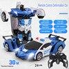 Nowa transformacja RC samochód Robot zdalnie sterowanym samochodowym 2 w 1 deformacja roboty modele zabawki dla dzieci prezent na boże narodzenie dla dzieci