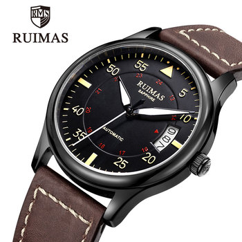 RUIMAS Men Watch Automatic Mechanical  Man Luxury Top Brand Classic es Mens Sport Clock Relogio Masculino - sale item Men's Watches
