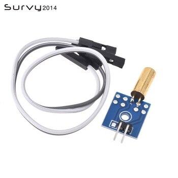 цена на Tilt Sensor Module Vibration Sensor for Arduino STM32 AVR Raspberry Pi 3.3V-12V With Free Cable diy electronics