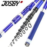 JOSBY Telescopic Fishing Rod Spinning rock rod Carbon Fishing Pole Stick Super Hard travel sea boat 2.7M 3.6M 4.5M 5.4M 6.3M