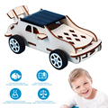 3D деревянная головоломка забавная солнечная игрушка набор для сборки DIY модель автомобиля детские развивающие гаджеты креативная модель с...