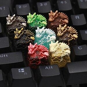 1/pc Кепка для ключей, поперечный вал, механическая клавиатура, кепка для ключей из смолы, кепка для ключей на заказ, кепка для ключей с изображ...