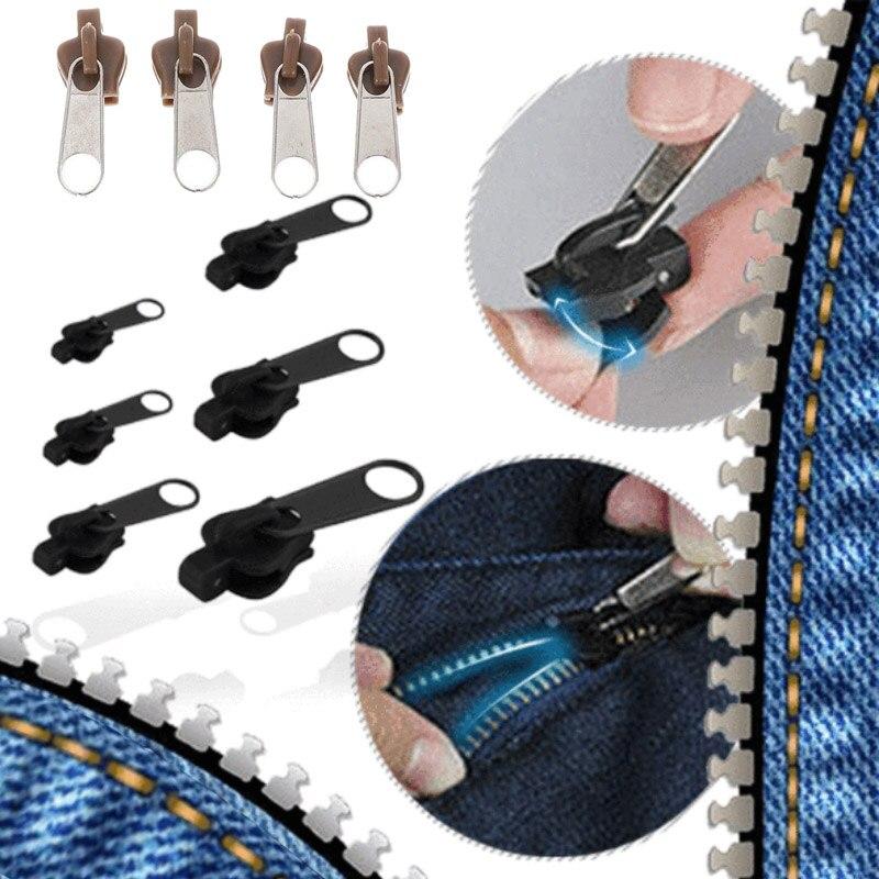 Newly 6/12Pcs Universal Fix Zipper Repair Kit Replacement Zip Slider Zippers Puller VK-ING