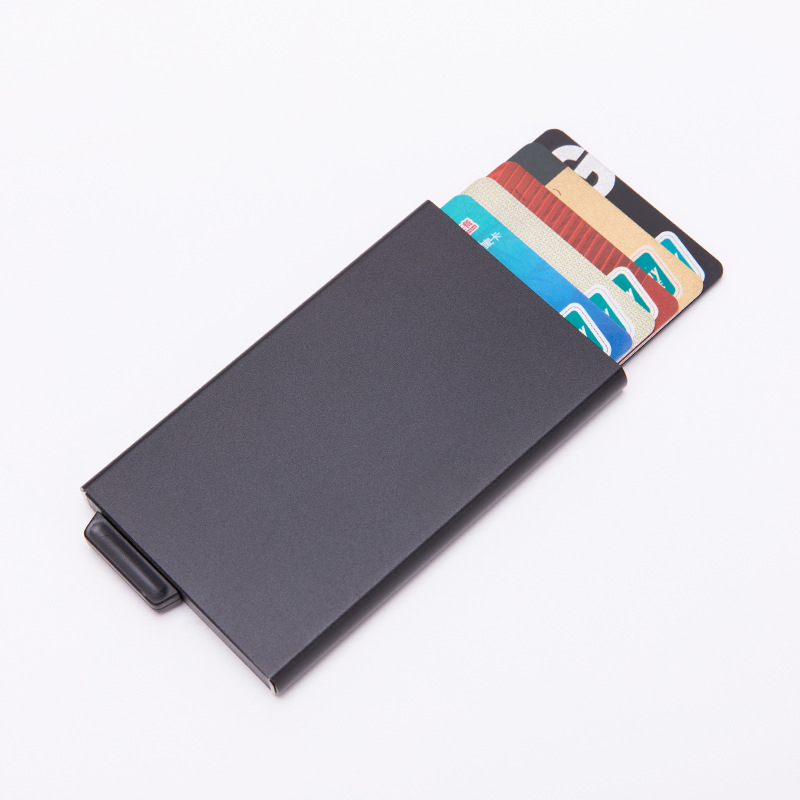 Aluminium Alloy New Style Automatic Xin Yong Ka He Anti-Degaussing Bank Card Clamp Business Card RFID Wallet