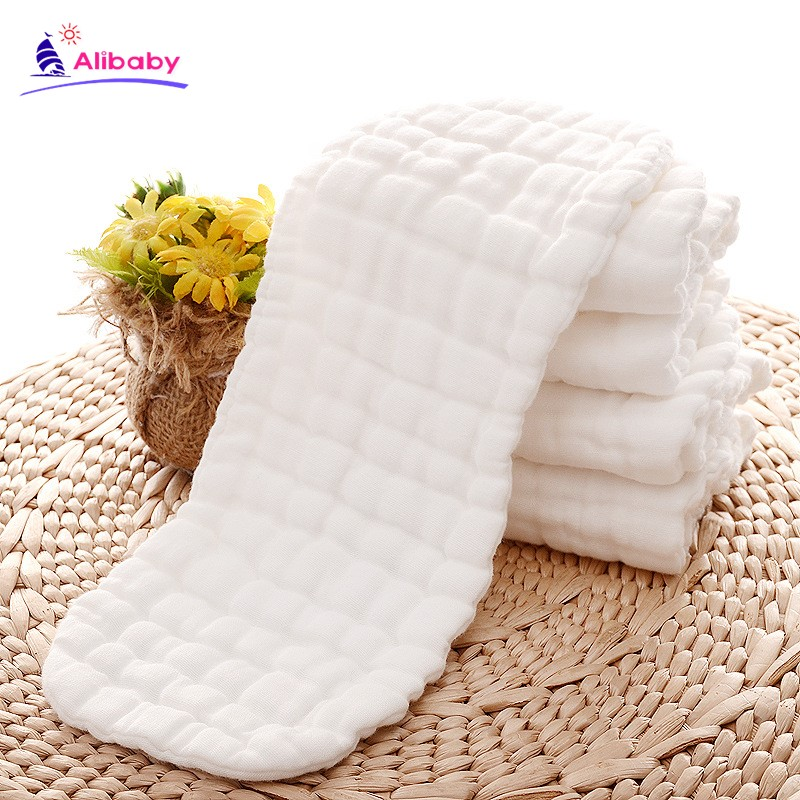 New Reusable Baby Diapers Cloth Diaper Inserts 1 Piece 9 Layer Insert 100% Cotton Washable Babies Care Eco-friendly Diaper