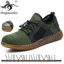 Мужские сетчатые кроссовки Ryder, легкие рабочие ботинки со стальным носком, с защитой от пирсинга, большие размеры 36-48, 2020