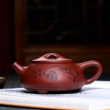 цена на 300ML Chinese yixing teapot Raw ore zisha xishi tea pot handmade kettle purple clay drinkware with gift box suit tieguanyin puer