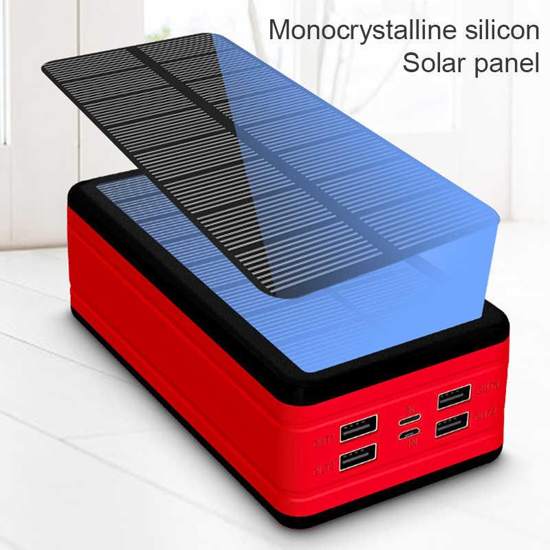 99000Mah Solar Power Bank Grote Capaciteit Draagbare Oplader Led Waterdichte Outdoor Poverbank Voor Iphone Xiaomi Samsung