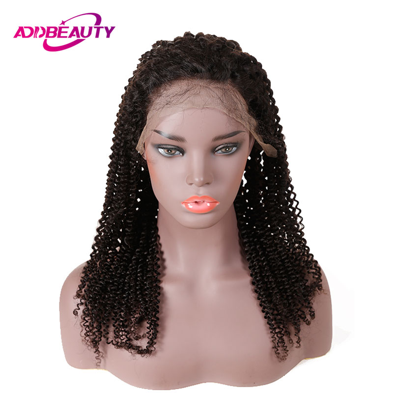 13x6 Lace Front Wig For Black Women Mongolian Afro Kinky Curly Brazilian Human Remy Hair Natural Color Pre Plucked 130% Density